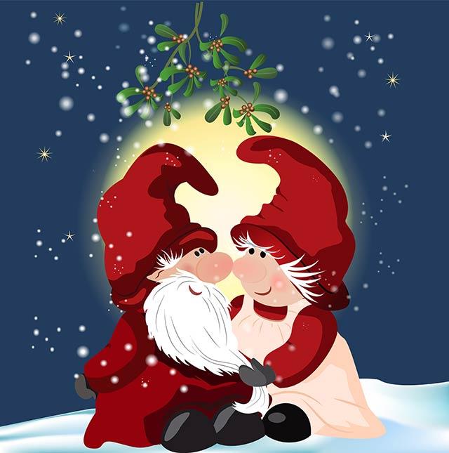 kuss-unter-dem-mistelzweig-zu-weihnachten