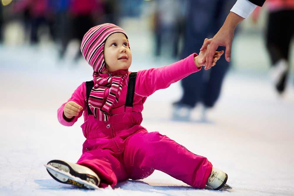 Eislaufen mit Familie